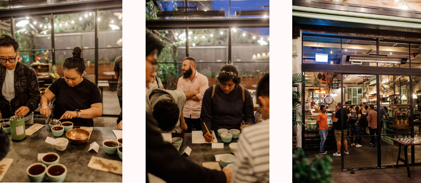 The Grounds Roastery Colombian Cupping Event
