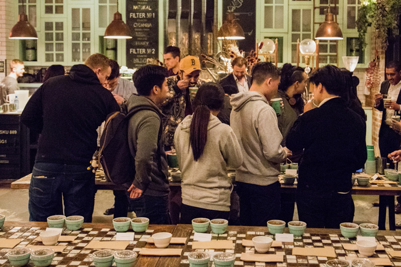 The Grounds Roastery Ethiopian Cupping